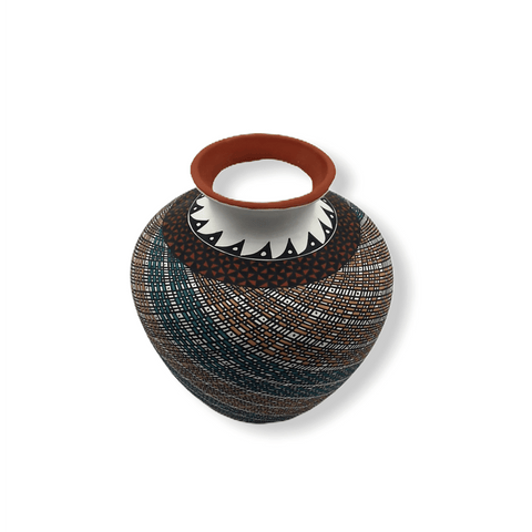 Image of Native American Pot - Acoma Swril Pot By Melissa Antonio