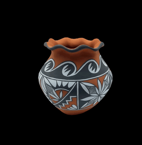 Image of Native American Pot - Jemez Traditional Pot By Mary Small