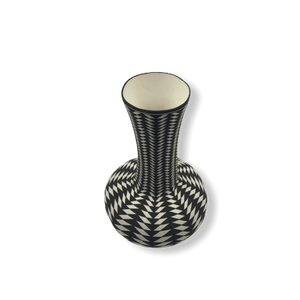Native American Pot - SOLD Acoma Black & White  By P. Estevan