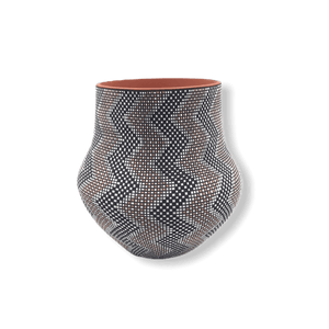 Native American Pot - SOLD Acoma Thunder-Pattern Po.t By M. Antonio