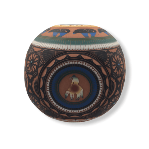 Image of Native American Pot - SOLD Navajo Large Kokopelli P.ot By H. Whitegoat