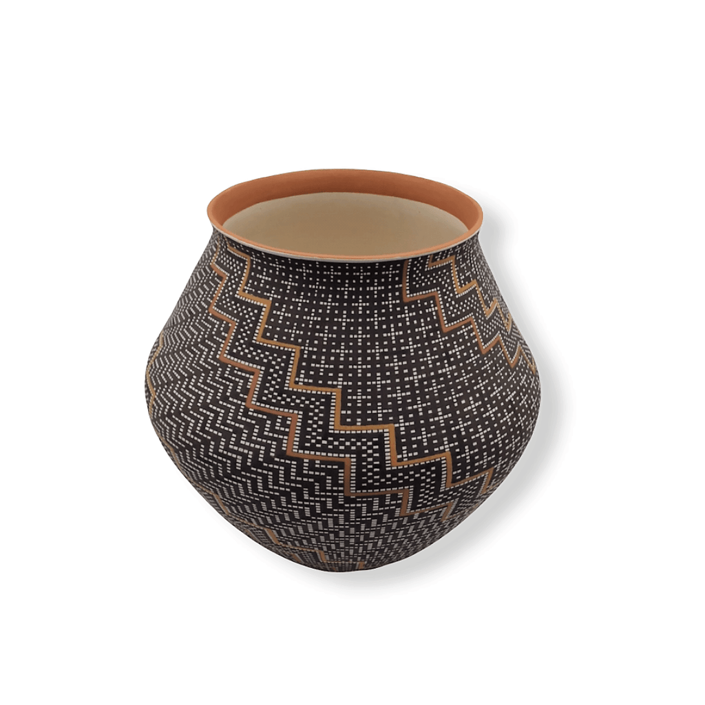 Native American Pot - SOLD  Step-Pattern  By F. Antonio