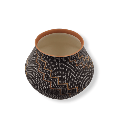 Image of Native American Pot - SOLD  Step-Pattern  By F. Antonio