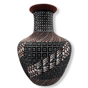Native American Pottery - Acoma Tall Vase By Melissa Antonio