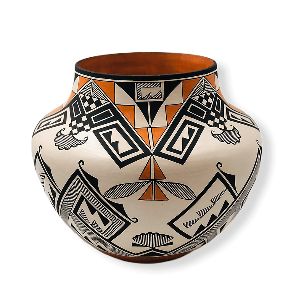Native American Pottery - Acoma Traditional Multi-Color Pot