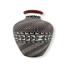 Load image into Gallery viewer, Acoma Wave Pattern Pot by M. Antonio