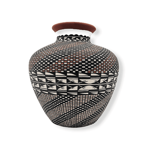 Acoma Wave Pattern Pot by M. Antonio
