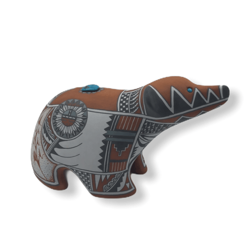 Image of Native American Pottery - SOLD Bear By Scott Small