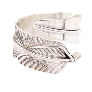 Native American Ring - Navajo Adjustable Feather Wrap Around Ring - Chris Charley