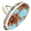 Native American Ring - Navajo Golden Hills Turquoise Embellished Ring
