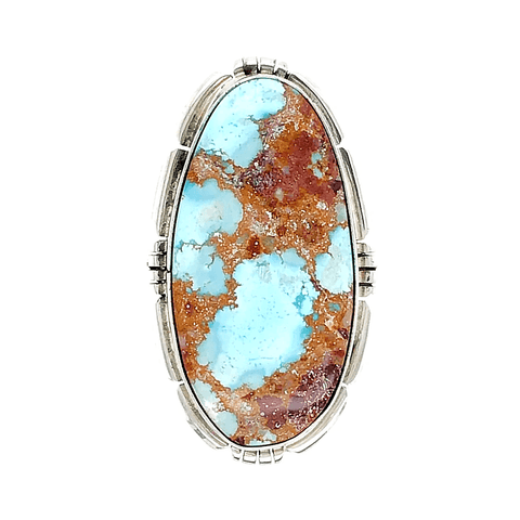 Image of Native American Ring - Navajo Golden Hills Turquoise Embellished Ring