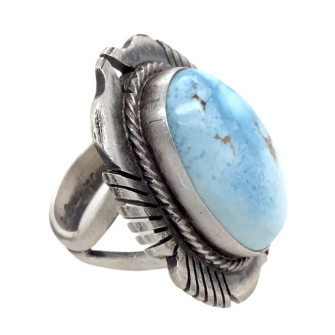 Image of Native American Ring - Navajo Golden Hills Turquoise Embellished Ring - G. Spencer