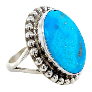 Native American Ring - Navajo Oval Duchess Ring - Samson Edsitty