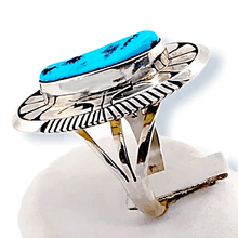 Load image into Gallery viewer, Native American Ring - Navajo Sleeping Beauty Turquoise Ring By Eugene Belone