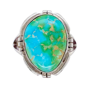 Native American Ring - Navajo Sonoran Turquoise Ring -Plain Setting