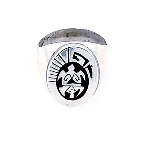 Native American Ring - Navajo Sterling Silver Turtle Ring
