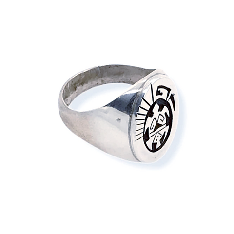 Image of Native American Ring - Navajo Sterling Silver Turtle Ring