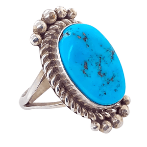 Native American Ring - Rough Sleeping Beauty Turquoise Ring - Mary Ann Spencer