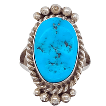 Load image into Gallery viewer, Native American Ring - Rough Sleeping Beauty Turquoise Ring - Mary Ann Spencer
