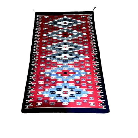 Image of Navajo 4x3 Eye Dazzler Rug By A. Yazzie