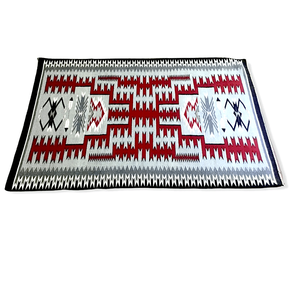 Navajo 5x4 Storm Pattern Rug by C. Yellowhorse