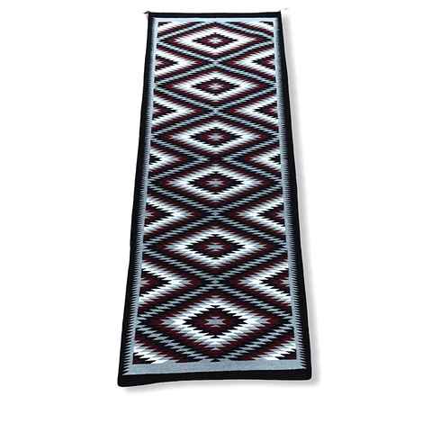 Image of Navajo 8x3 Eye Dazzler Runner Rug By S. Becenti