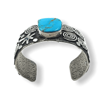 Load image into Gallery viewer, Navajo Dragonfly Turquoise Bracelet