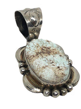 Load image into Gallery viewer, SOLD Navajo Dry Creek Turquoise Pend Large Fancy Bail
