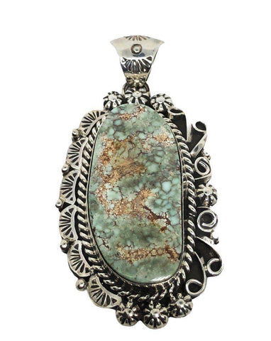Image of Navajo Dry Creek Turquoise Pendant Traditional Style