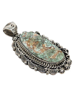 Navajo Dry Creek Turquoise Pendant Traditional Style