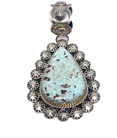 Image of Navajo Dry Creek Turquoise Pendant W/ Large Bail