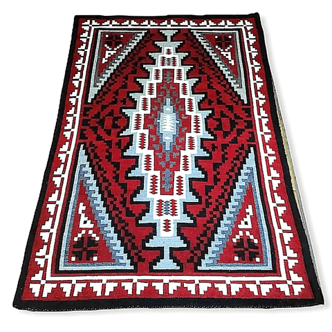 Image of Navajo Ganado Red Rug By T. Charley