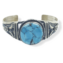Load image into Gallery viewer, Navajo Golden Hills Turquoise Cuff Bracelet