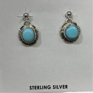 Navajo Golden Hills Turquoise Earrings - Dangle Post - Native American