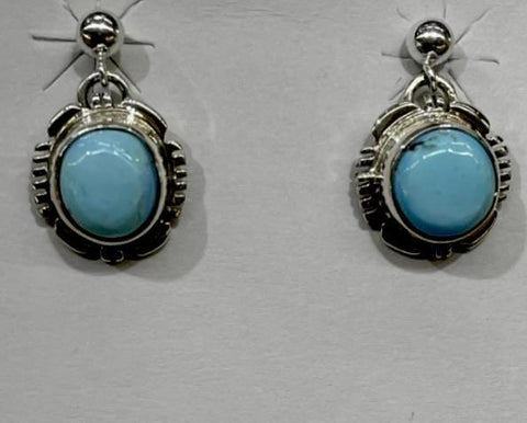 Image of Navajo Golden Hills Turquoise Earrings - Dangle Post - Native American
