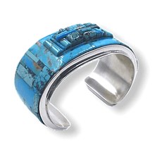 Load image into Gallery viewer, Navajo Inlay & Cobblestone Turquoise Bracelet