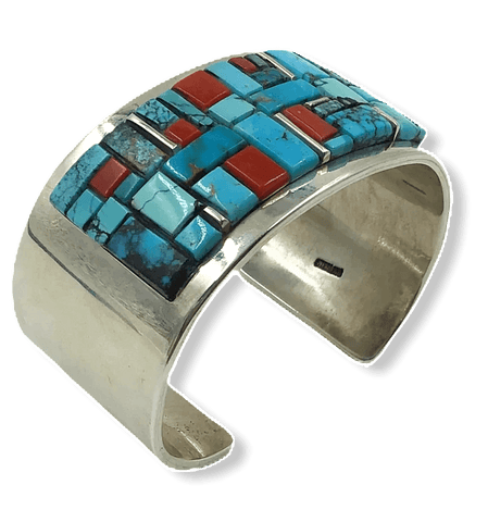 Image of Navajo Inlay Multi Color Bracelet