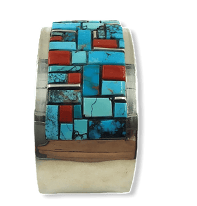 Navajo Inlay Multi Color Bracelet