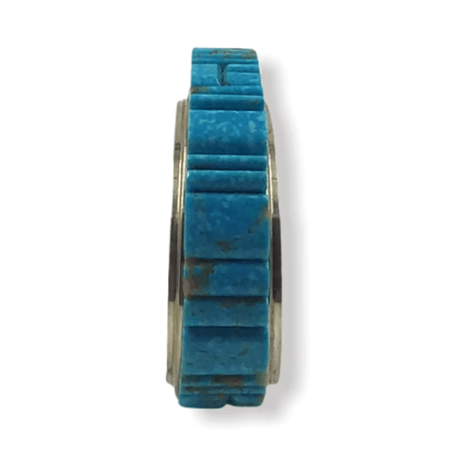 Navajo Inlay Turquoise Bracelet -Melvin Francis & Lester James