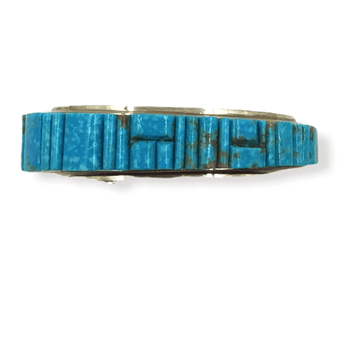 Image of Navajo Inlay Turquoise Bracelet -Melvin Francis & Lester James