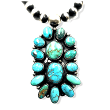 Load image into Gallery viewer, Navajo Kingman & Royston Turquoise Necklace Set