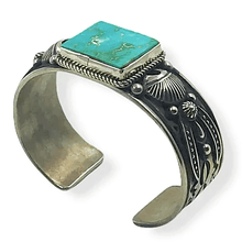 Load image into Gallery viewer, Navajo Kingman Turquoise Bracelet Albert Jake