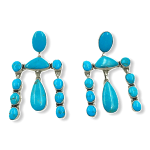 Navajo Kingman Turquoise Chandelier Earrings