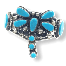 Load image into Gallery viewer, Navajo Kingman Turquoise Dragonfly Bracelet