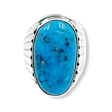 Load image into Gallery viewer, Navajo Kingman Turquoise Men's Ring