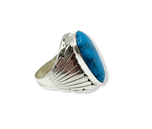 Navajo Kingman Turquoise Men's Ring