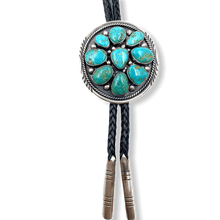 Load image into Gallery viewer, SOLD Navajo Kingman Turquoise Multi Stone Bolo -Raymond Beard