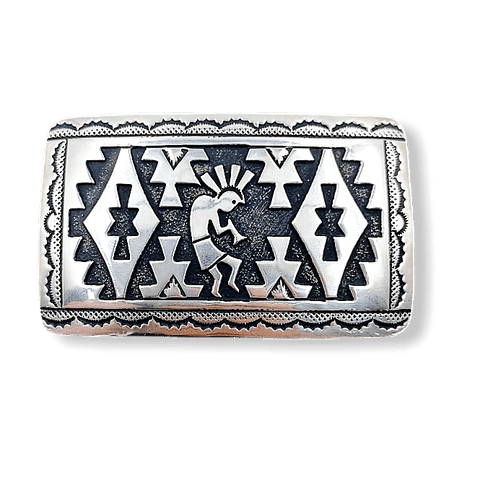 Image of Navajo Kokopelli Belt Buckle