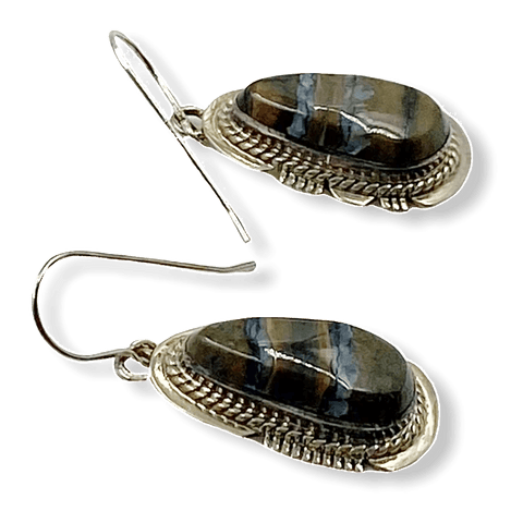 Image of Navajo Mammoth Tooth Earrings