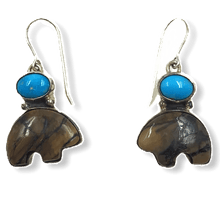 Load image into Gallery viewer, SOLD Mammoth Tooth & Turquoise Bear Ear.